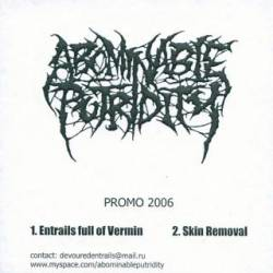 Abominable Putridity : Promo 2006